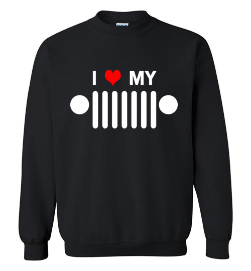 $29.95 - I heart my jeep funny Jeep lover's Sweatshirt