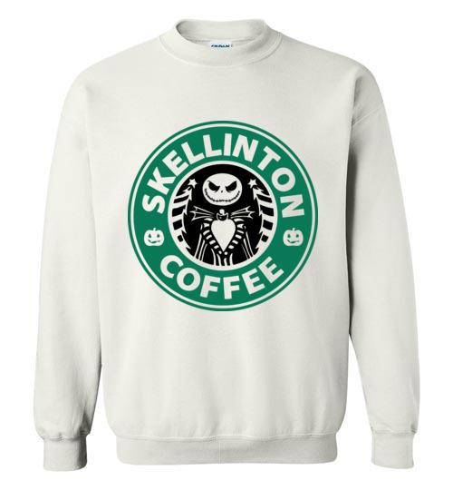 $29.95 - Jack Skellinton Coffee funny Sweatshirt
