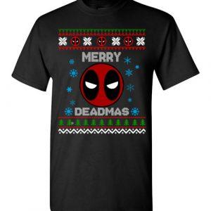 $18.95 - DeadPool Christmas Sweater Merry Deadmas T-Shirt