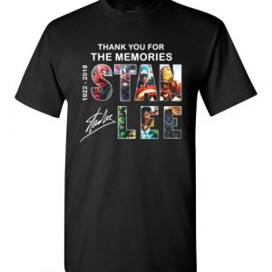 $18.95 -Marvel Shirts: Stan Lee Thanks For Memories 1922-2018 T-Shirt