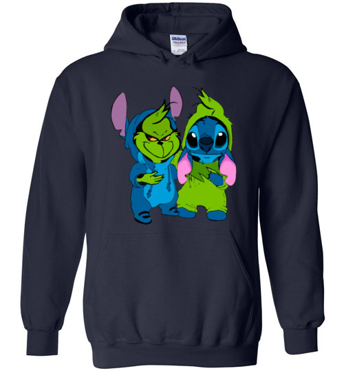 ee2fb301 Baby Grinch and Stitch funny T-Shirt, Hoodie, Long Sleeve, Ugly ...