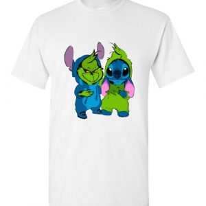 $18.95 - Baby Grinch and Stitch funny T-Shirt