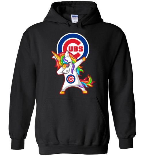 $32.95 - Funny Chicago Cubs Shirts: Unicorn Dabbing Hoodie
