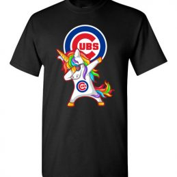 $18.95 - Funny Chicago Cubs Shirts: Unicorn Dabbing T-Shirt
