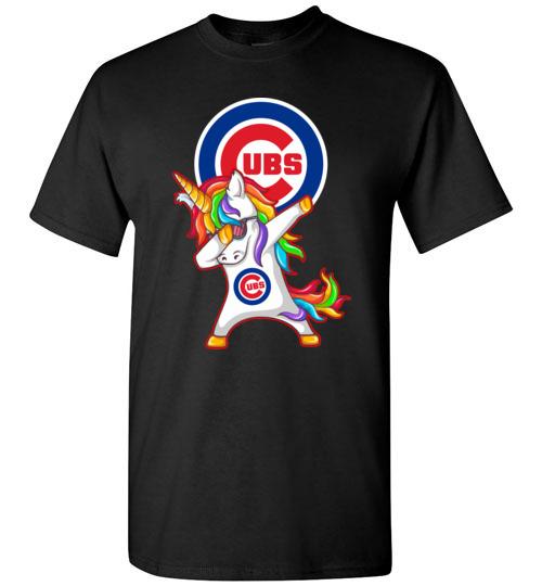 $18.95 - Funny Chicago Cubs Shirts: Unicorn Dabbing T-Shirt