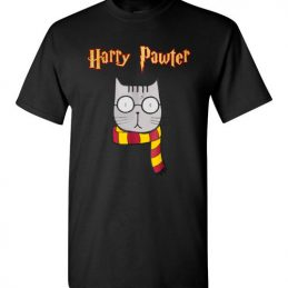 $18.95 - Harry Pawter Funny Harry Potter Shirts Cute Magic Cat With Glasses T-Shirt