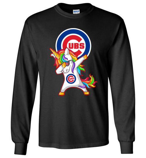 $23.95 - Funny Chicago Cubs Shirts: Unicorn Dabbing Long Sleeve Shirt