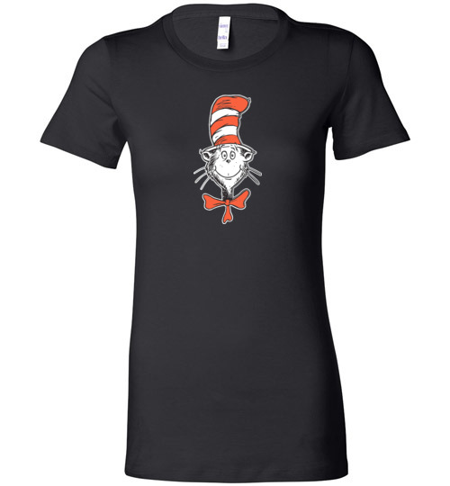 $19.95 - Dr. Seuss Shirts The Cat in the Hat Face Lady T-Shirt