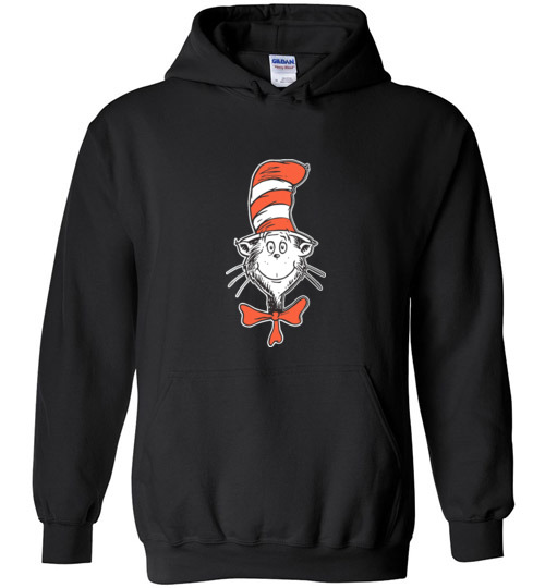 $32.95 - Dr. Seuss Shirts The Cat in the Hat Face Hoodie