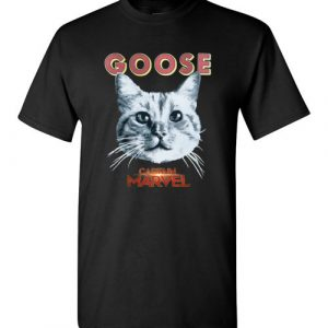 $18.95 - Goose Cat Marvel's Captain funny T-Shirt