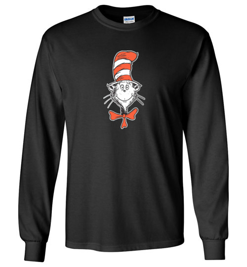 $23.95 - Dr. Seuss Shirts The Cat in the Hat Face Lady Long Sleeve T-Shirt