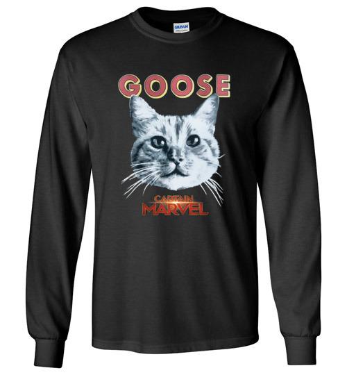 $23.95 - Goose Cat Marvel's Captain funny Long Sleeve Shirt