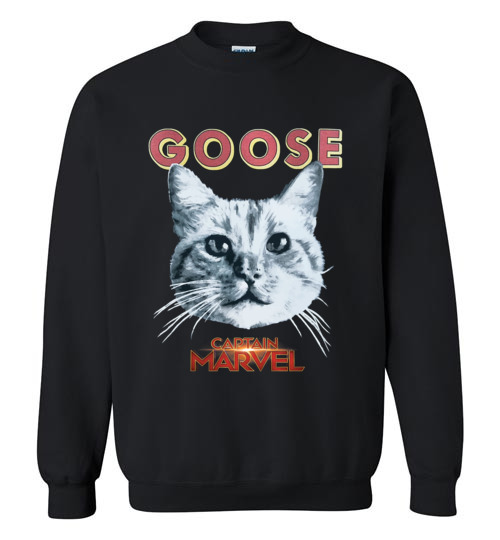 $29.95 - Goose Cat Marvel's Captain funny Sweatshirt