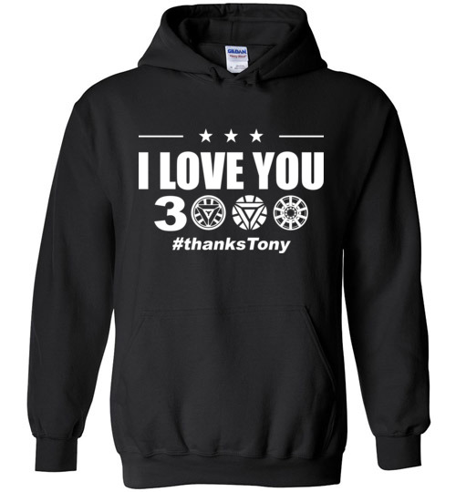 $32.95 - I Love You 3000 Iron Man Arc Reactor Avengers EndGame Hoodie