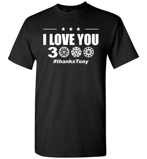$18.95 - I Love You 3000 Iron Man Arc Reactor Avengers EndGame T-Shirt
