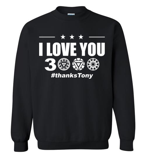$29.95 - I Love You 3000 Iron Man Arc Reactor Avengers EndGame Sweatshirt