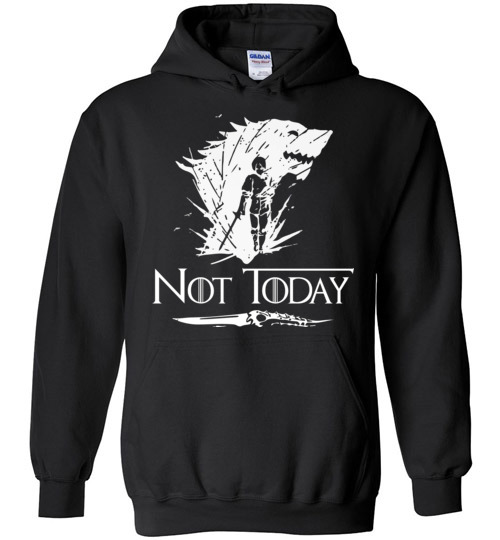 $32.95 - Not Today Game of Thrones Arya's Dagger funny Hoodie