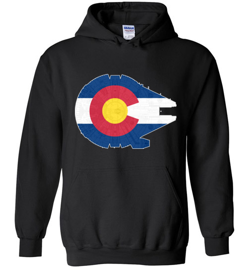 $32.95 - Colorado Flag And The Millennium Falcon Hoodie