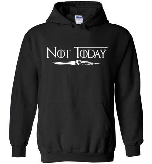 $32.95 - Arya's Dagger Not Today Game of Thrones funny Hoodie