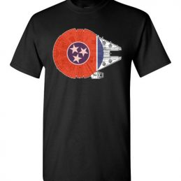 $21.95 - Tennessee Flag And The Millennium Falcon T-Shirt