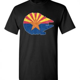 $18.95 - Arizona Flag And The Millennium Falcon T-Shirt