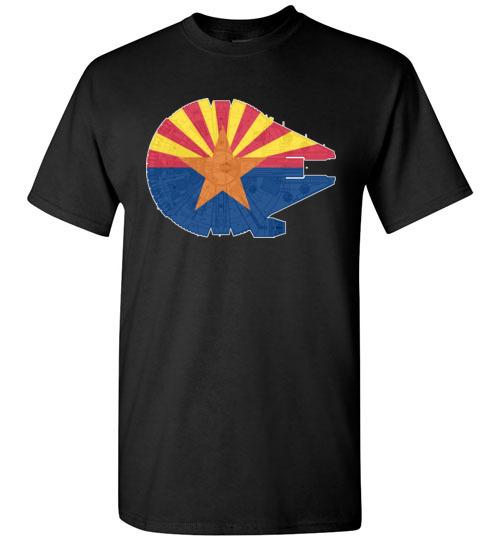 $18.95 - Arizona Flag And The Millennium Falcon T-Shirt
