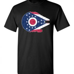 $18.95 - Ohio Flag And The Millennium Falcon T-Shirt