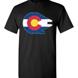$18.95 - Colorado Flag And The Millennium Falcon T-Shirt