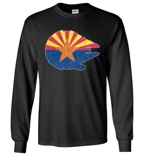 $23.95 - Arizona Flag And The Millennium Falcon Long Sleeve T-Shirt