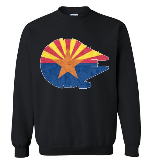 $29.95 - Arizona Flag And The Millennium Falcon Sweatshirt