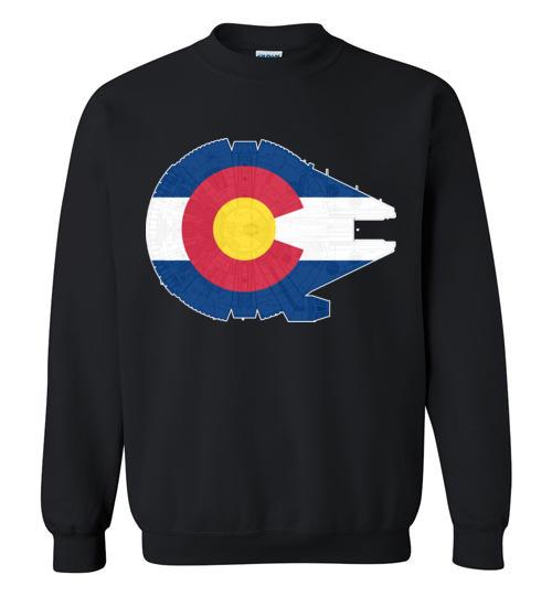 $29.95 - Colorado Flag And The Millennium Falcon Sweatshirt