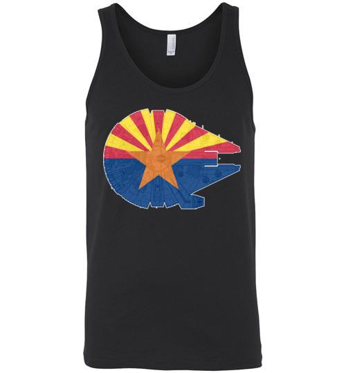 $24.95 - Arizona Flag And The Millennium Falcon Unisex Tank