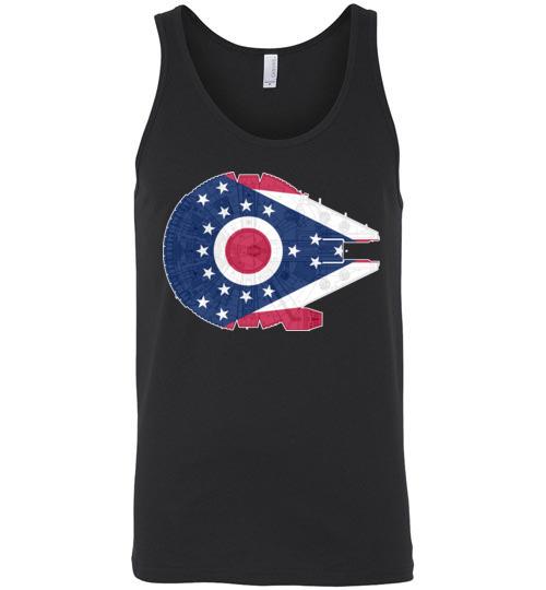 $24.95 - Ohio Flag And The Millennium Falcon Unisex Tank