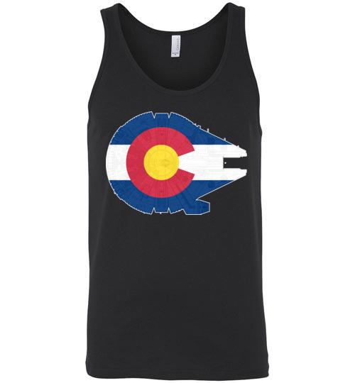 $24.95 -Colorado Flag And The Millennium Falcon Unisex Tank