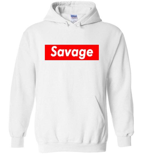 $32.95 – Funny Supreme Shirts: Savage Hoodie