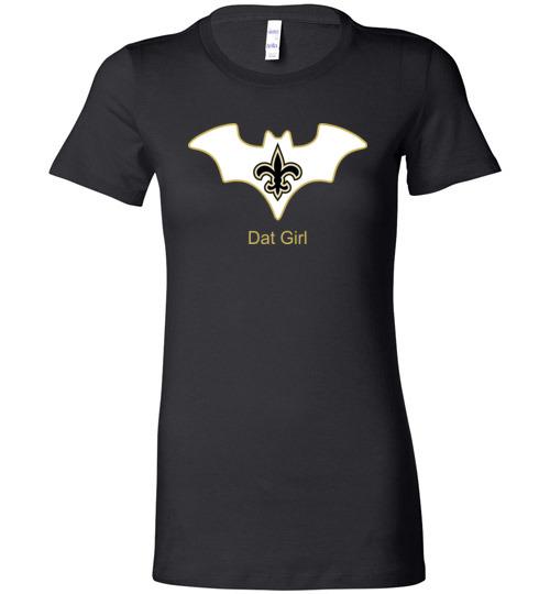 $19.95 – Batman Dat Girl New Orleans Saints NFL Lady T-Shirt