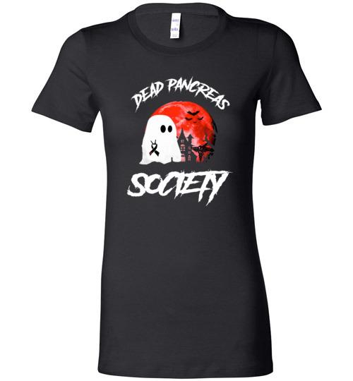 $19.95 – Dead Pancreas Society Boo Halloween Blood Moon Lady T-Shirt
