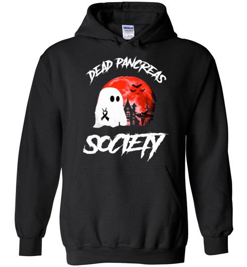 $32.95 – Dead Pancreas Society Boo Halloween Blood Moon Hoodie