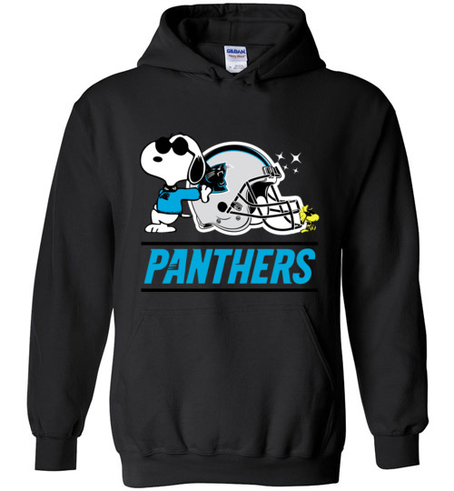 $32.95 - The Carolina Panthers Joe Cool And Woodstock Snoopy Football Hoodie