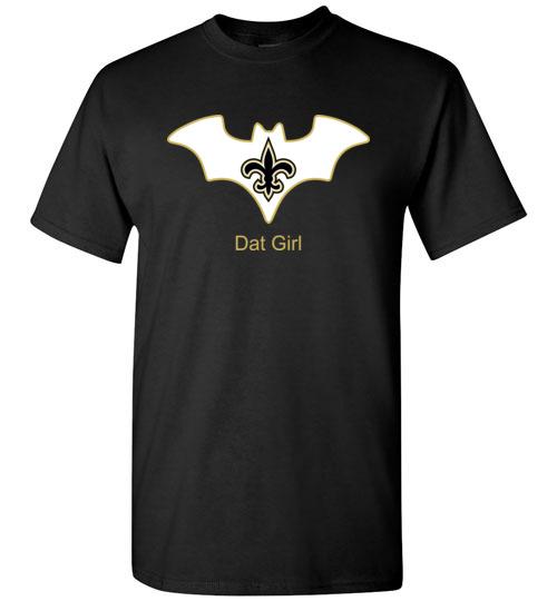 $18.95 – Batman Dat Girl New Orleans Saints NFL T-Shirt