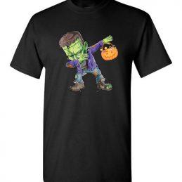 $18.95 – Happy Daboween Frankenstein Halloween Dabbing Trick Version T-Shirt