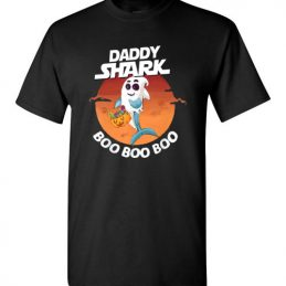 $18.95 – Daddy Shark Boo Boo Boo Halloween Version T-Shirt