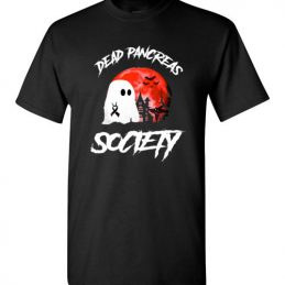 $18.95 – Dead Pancreas Society Boo Halloween Blood Moon T-Shirt