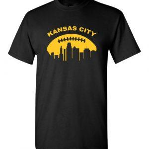 $18.95 - Vintage Kansas City Cityscape Retro Football T-Shirt