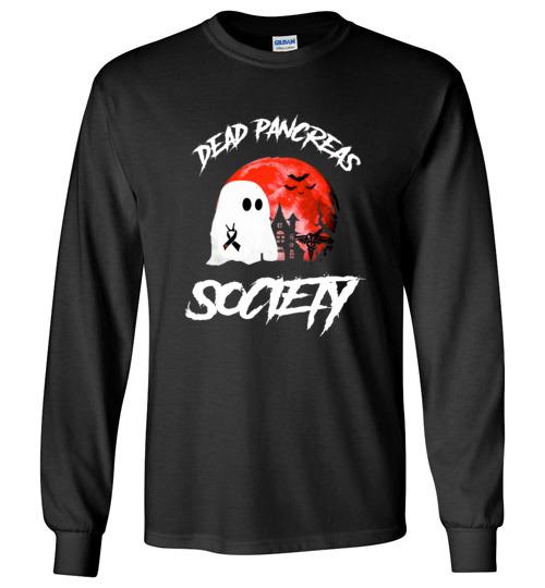 $23.95 – Dead Pancreas Society Boo Halloween Blood Moon Long Sleeve shirt