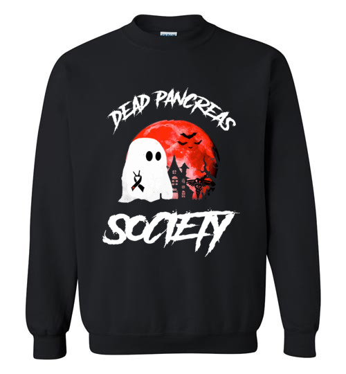 $29.95 – Dead Pancreas Society Boo Halloween Blood Moon Sweatshirt