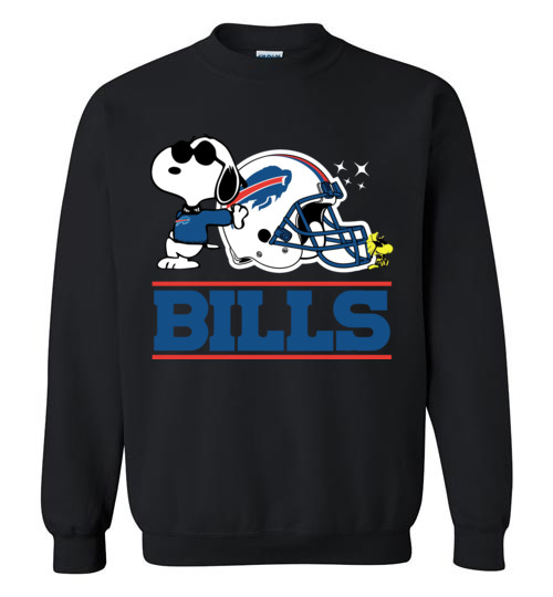 $29.95 - The Buffalo Bills Joe Cool And Woodstock Snoopy Football Sweatshirt