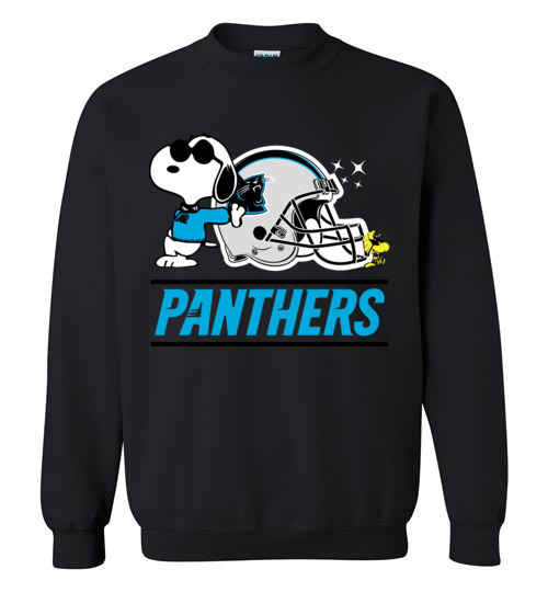 $29.95 - The Carolina Panthers Joe Cool And Woodstock Snoopy Football Sweatshirt