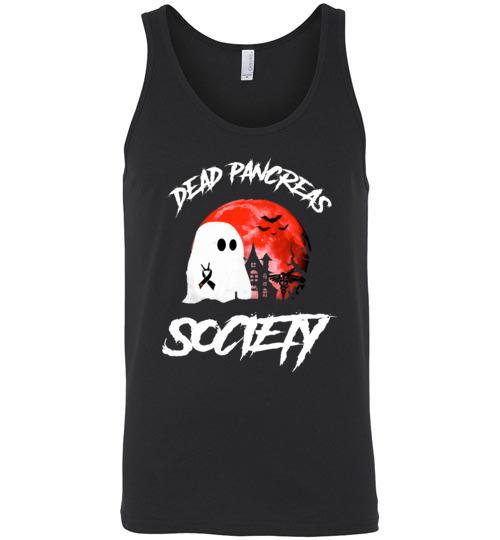$24.95 – Dead Pancreas Society Boo Halloween Blood Moon Unisex Tank