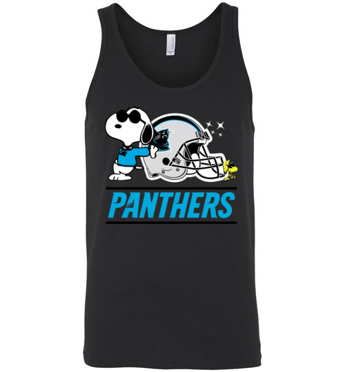 $24.95 - The Carolina Panthers Joe Cool And Woodstock Snoopy Football Unisex Tank